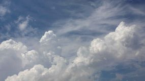 Abstract clouds in blue sky Royalty Free Stock Images