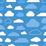 Abstract clouds seamless pattern Royalty Free Stock Images