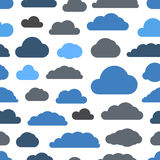 Abstract clouds seamless pattern Stock Photos