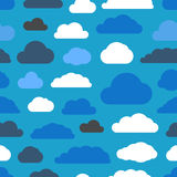Abstract clouds seamless pattern Royalty Free Stock Photo