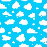 Abstract Clouds Signs Seamless Pattern Background. Vector stock illustration