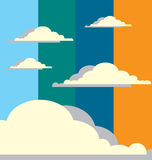 Abstract Cloudy Sky. Abstract background of the sky with clouds in it Stock Photo