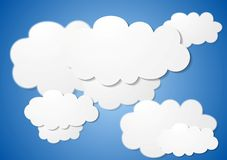 Abstract cloudy vector background Stock Photography