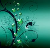 Abstract with Clover leaves. Abstract on theme holiday St.Patrick royalty free illustration