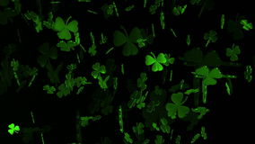 Abstract clover leaves in green
