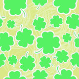 Abstract clover seamless background Royalty Free Stock Photos