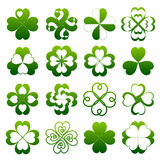 Abstract clover symbol set Stock Images