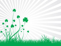 Abstract Clovers  Background Illustration Stock Photos