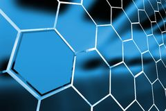 Abstract Clusters Backdrop. Abstract Metallic Blue Clusters Background 3D Render Illustration Stock Photos