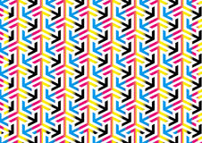 Abstract CMYK Arrows Pattern Background Textures Royalty Free Stock Photography
