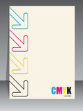 Abstract cmyk brochure with color arrows Stock Photo