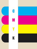 Abstract cmyk color ribbons Stock Images
