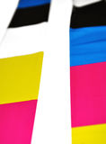 Abstract CMYK colors Royalty Free Stock Images