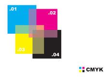 Abstract CMYK design Royalty Free Stock Photos