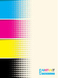 Abstract cmyk halftone background template Stock Images