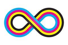 Abstract cmyk infinity. Vector illustration stock illustration