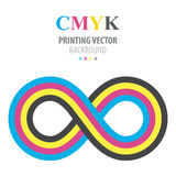 Abstract cmyk infinity Royalty Free Stock Photography