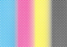 Abstract CMYK Mesh Pattern Background Textures. Object stock illustration