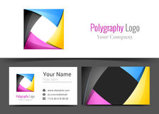 Abstract CMYK Printing Services Media Center Corporate Logo Stock Photography