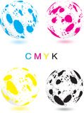 Abstract CMYK sphere Royalty Free Stock Photo
