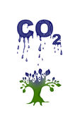 Abstract CO2 illustration Stock Photos