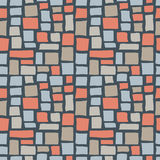 Abstract Cobble Bricks Seamless Pattern Texture. Abstract cobble tiled seamless pattern. Colorful stylized pavement stone bricks texture. EPS8 vector Stock Photo