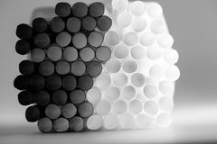 Abstract cocktail straws. Abstract composition with cocktail straws Royalty Free Stock Photo