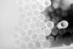 Abstract cocktail straws Stock Photos