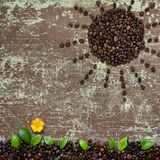 Abstract coffee beans shape Royalty Free Stock Photos