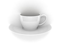 Abstract coffee cup. Crosses the plane Royalty Free Stock Photography