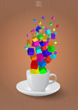 Abstract coffee cup Stock Photos