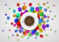 Abstract coffee cup Stock Photography