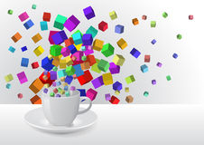 Abstract coffee cup Royalty Free Stock Image