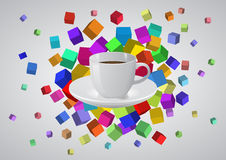 Abstract coffee cup Stock Images