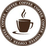 Abstract coffee cup Royalty Free Stock Images