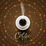 Abstract coffee design Stock Image