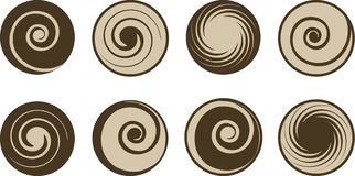Abstract coffee and milk vector set Royalty Free Stock Photo