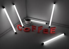 Abstract coffee scene Royalty Free Stock Photo