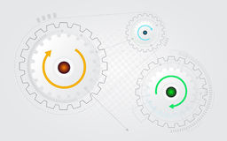 Abstract cog gear wheel background Royalty Free Stock Photography