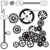 Abstract cog - gears Stock Photos