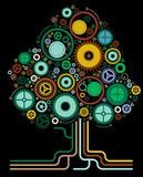 Abstract Cog Tree. Vector illustration of an Abstract Cog Tree Royalty Free Stock Photos