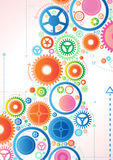 Abstract Cogs. Vector illustration of Retro Inspired Abstract Cogs Stock Photo