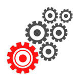 Abstract cogs - gears over white background Stock Photos