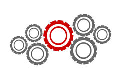 Abstract cogs - gears over white Stock Photography