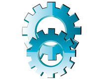 Abstract cogs - gears on white background Stock Images