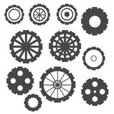 Abstract Cogs Isolated on White Royalty Free Stock Images