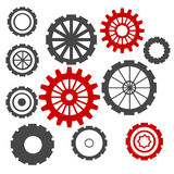 Abstract Cogs Isolated on White. Background Royalty Free Stock Photo