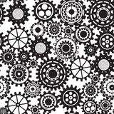 Abstract  cogs - seamless gears on white background Royalty Free Stock Photo