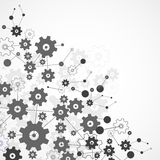 Abstract cogwheel background technology theme for your business. Stock Image