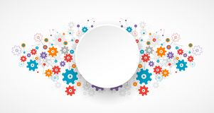 Abstract cogwheel background technology theme for your business. Royalty Free Stock Image